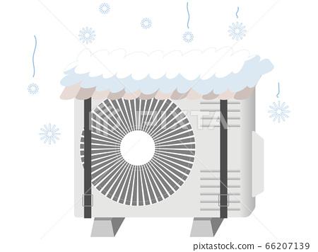 겨울 실외기 커버의 일러스트 66207139