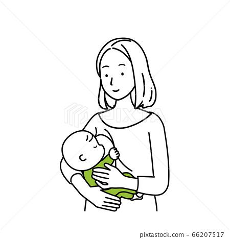 餵養嬰兒的女人 66207517
