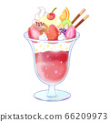 Colorful strawberry ice parfait 66209973