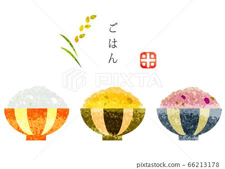 水彩紋理手繪米飯套 66213178