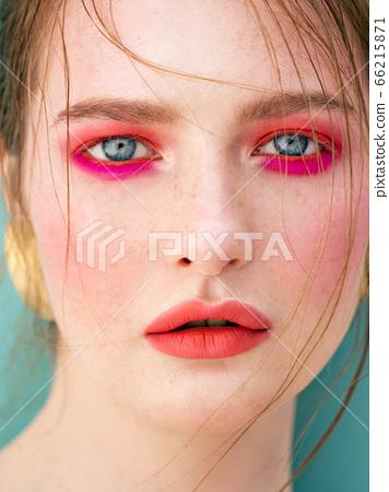 Close-up beauty portrait. 66215871