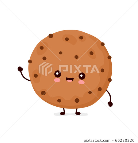 Cute happy funny chocolate cookie 66220220