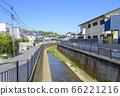 藍天和禪普庫吉河(東京杉並區)的景觀 66221216