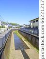 藍天和禪普庫吉河(東京杉並區)的景觀 66221217