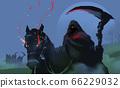 Digital illustration painting design style the four horsemen The Four Horsemen of the Apocalypse. 66229032