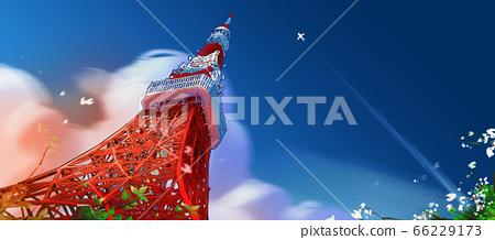 tokyo tower in bluesky. 66229173