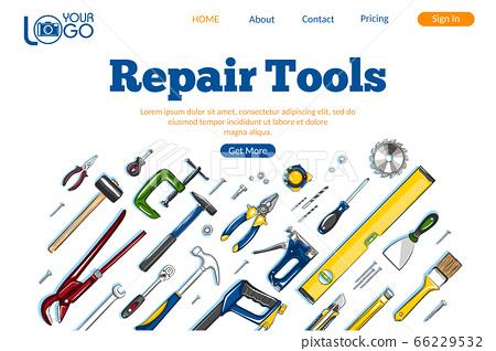 Repair tools landing page layout 66229532
