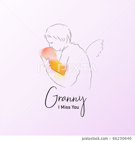 Granny holds the baby. Memories about grandma 66230640