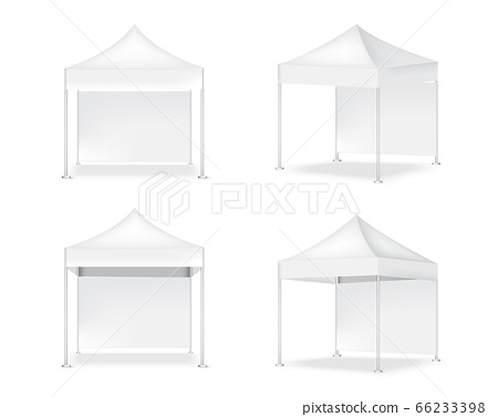 3D Mock up Realistic Tent Display POP Booth With 66233398