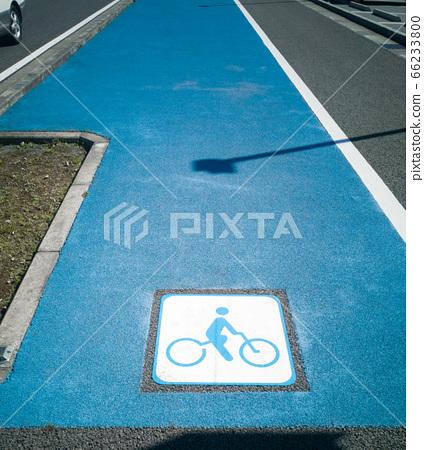 Road marking bicycle lane 66233800