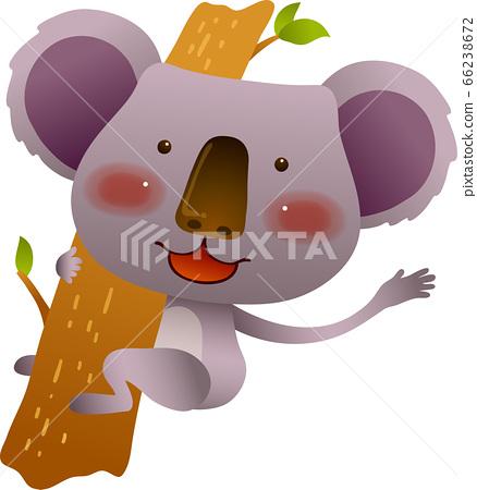 考拉爬樹與前面面臨的插圖 66238672