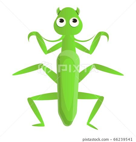 Female mantis icon, cartoon style 66239541
