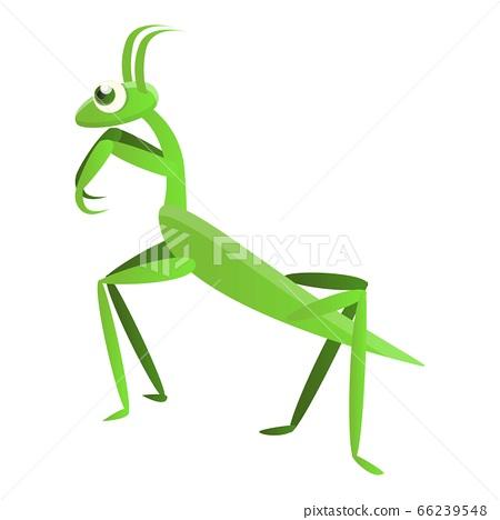 Mantis icon, cartoon style 66239548