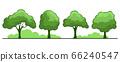 Summer. Trees set 66240547