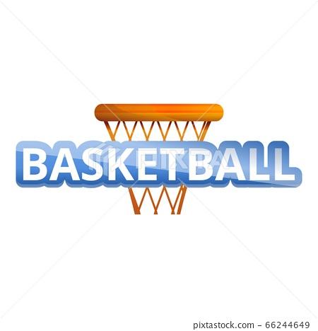 Basketball basket logo, cartoon style 66244649