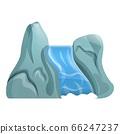 River waterfall icon, cartoon style 66247237