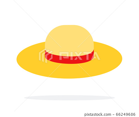 Straw hat vector flat isolated 66249686