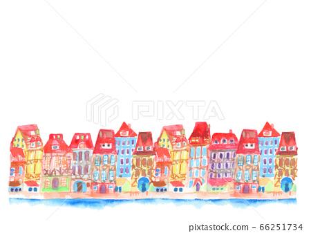 거리 거리 일러스트 배경 귀여운 프랑스 66251734
