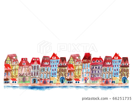 Cityscape cityscape illustration background cute France 66251735