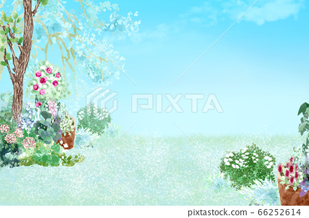 Garden natural life landscape illustration 66252614
