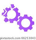 Cracked gear icon, cartoon style 66253043
