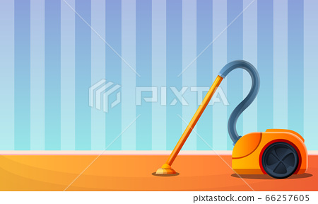 Room vacuum cleaner concept banner, cartoon style 66257605