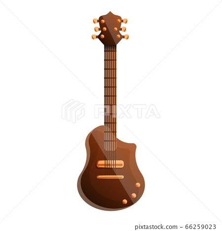 Electric guitar icon, cartoon style 66259023