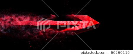 어둠을 비행하는 추상 빨간색 화살표 66260116