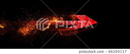 어둠을 비행하는 추상 빨간색 화살표 66260117