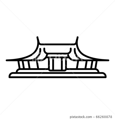 Taipei temple icon, outline style 66260878