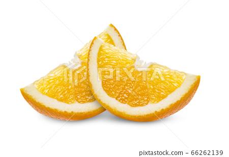 orange slice on white background 66262139