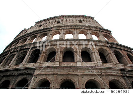 The exterior of the Colosseum in Rome 66264985
