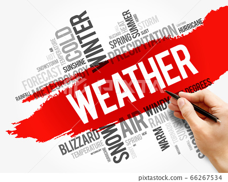 Weather word cloud collage, forecast concept 66267534