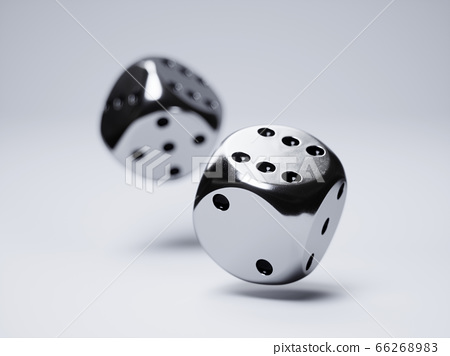 Silver dices 66268983