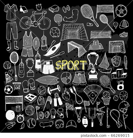 Set of Sport Drawing illustration Hand drawn 66269015