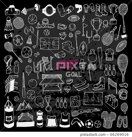 Set of Sport Drawing illustration Hand drawn 66269016