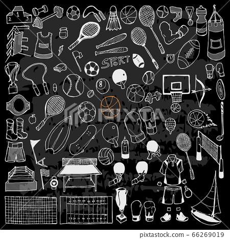 Set of Sport Drawing illustration Hand drawn 66269019
