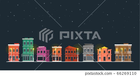 Downtown vector building illustration isolated on 66269110