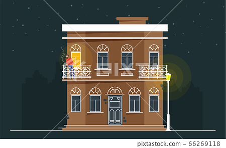 Downtown vector building illustration isolated on 66269118