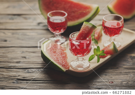 Sweet alcohol liquor with watermelon 66271882