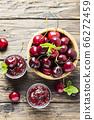 Homemade cherry jam 66272459