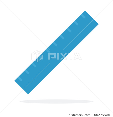 Straight ruler vector flat isolated 66275586