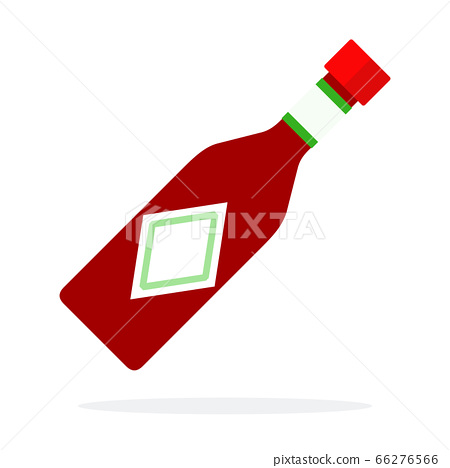 Salsa sauce in a glass bottle vector flat isolated 66276566