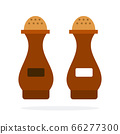 Pepper shaker and Salt shaker vector flat material design isolated object on white background. 66277300