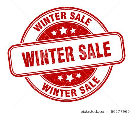 winter sale stamp. winter sale round grunge sign. 66277969