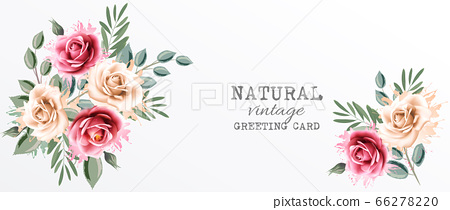 Holiday vintage greeting card with colorful 66278220