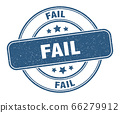 fail stamp. fail label. round grunge sign 66279912