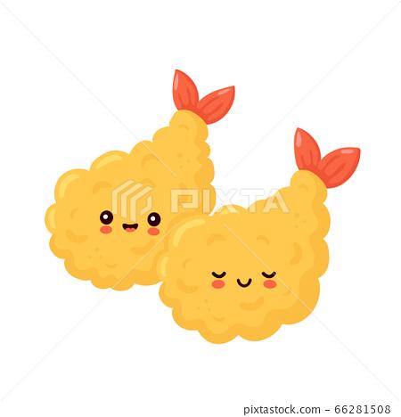 Cute happy funny tempura shrimp 66281508