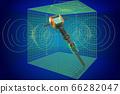 Jackhammer, pneumatic drill visualization 3d cad 66282047