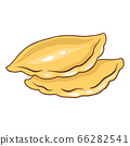 Illustration of freshly baked pies. 66282541